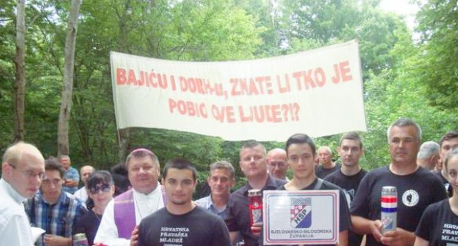 Bjelovarsko-bilogorski HSP odao počast žrtvama partizanskih zločina jame Jazovka