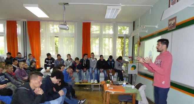 Predavanje Tonija Miluna u Obrtničkoj školi Bjelovar