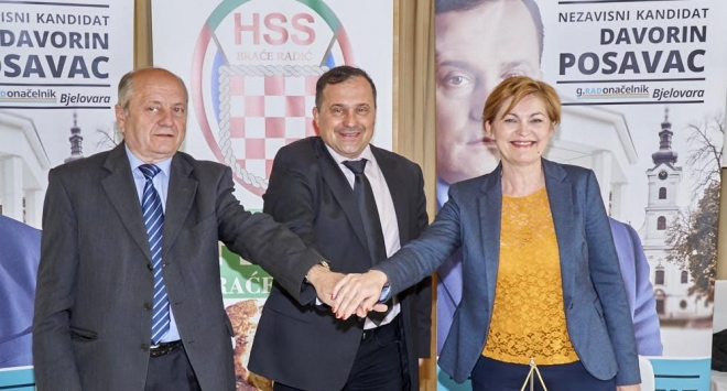 HSS Braće Radić uz Posavca za gradonačelnika Bjelovara