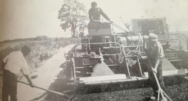 Prvi asfalt pedesetih, ceste u šezdesetima