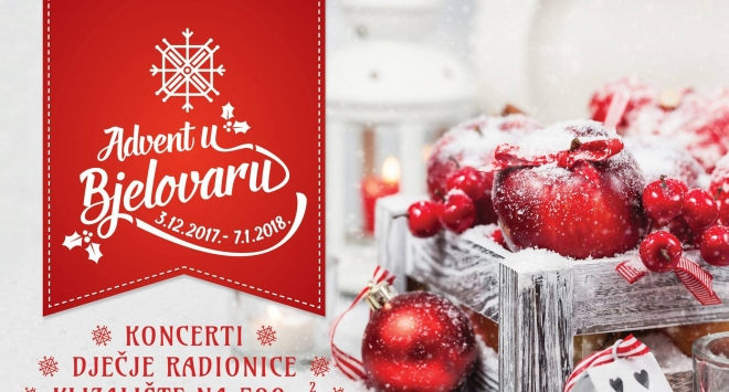 Advent u Bjelovaru na središnjem gradskom trgu od 3. prosinca