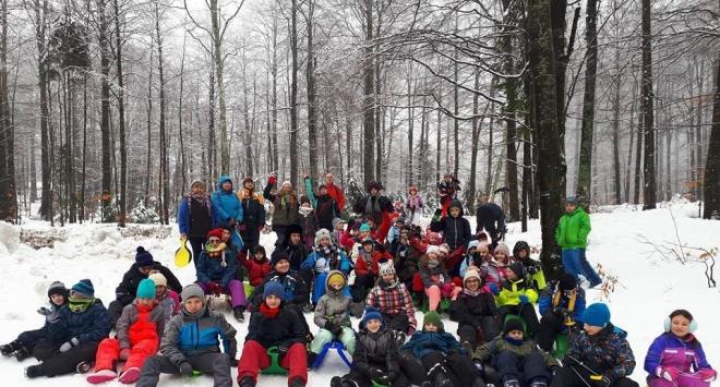 Bjelovarski izviđači i ovih školskih praznika pronašli snijeg!
