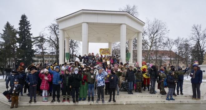 Zakrabuljeni bjelovarski mališani obavili karnevalske obaveze