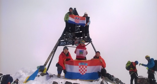 Bjelovarski planinari na afričkom snijegu