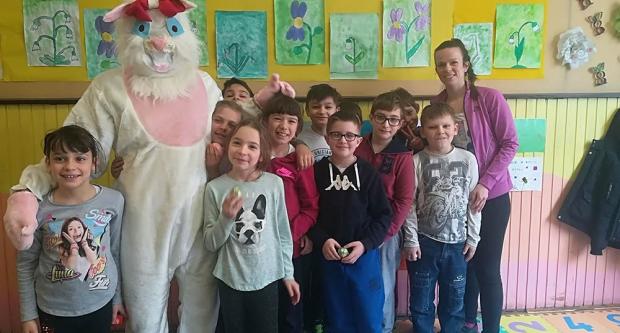 Bijeli zec u Osnovnoj školi Veliko Trojstvo