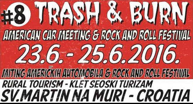TRASH&BURN: Najstariji i najveći miting američkih automobila u Hrvatskoj